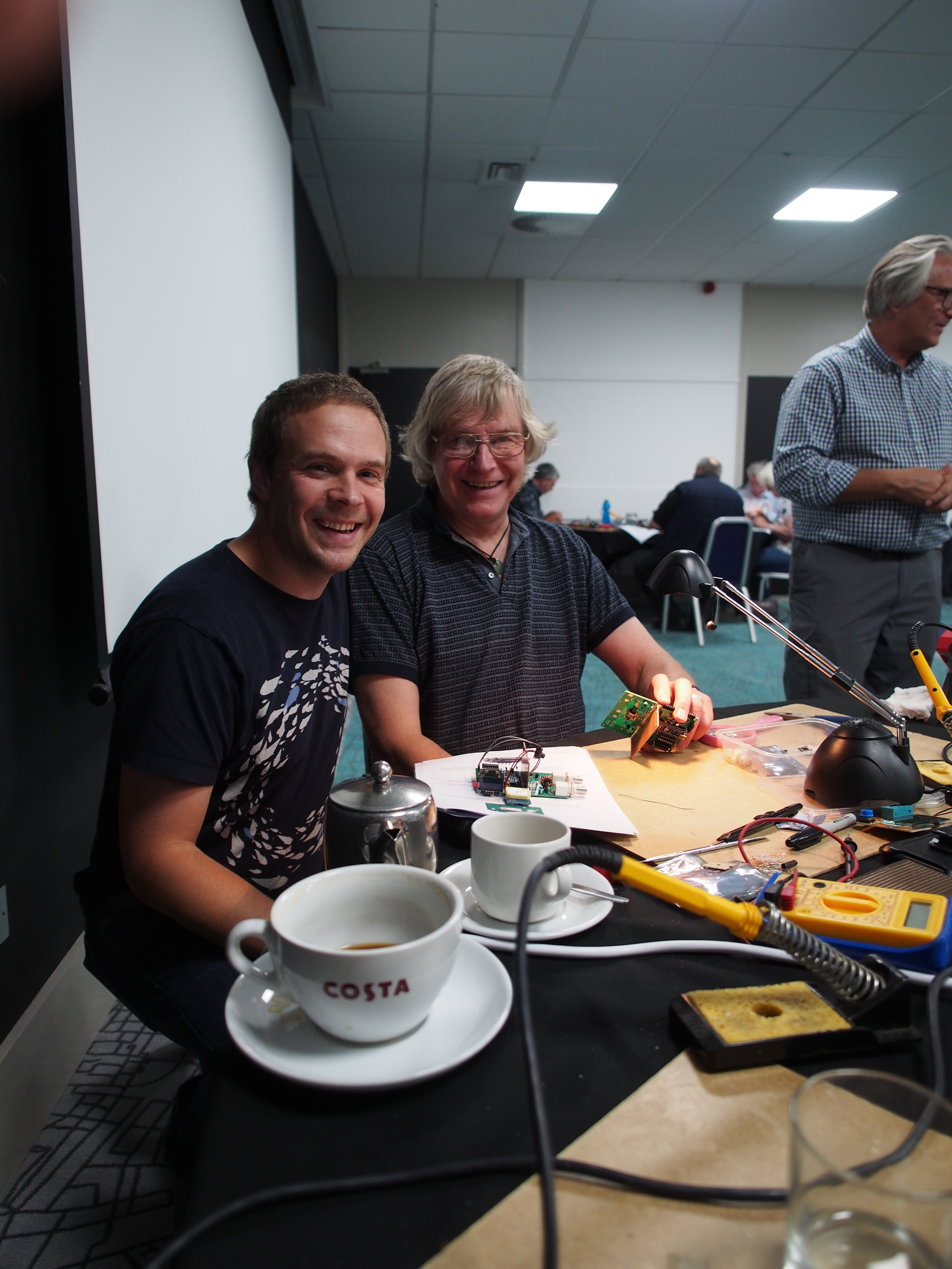 M0PUH and MW6KPF at the buildathon